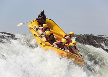 White Water Rafting on River Nile