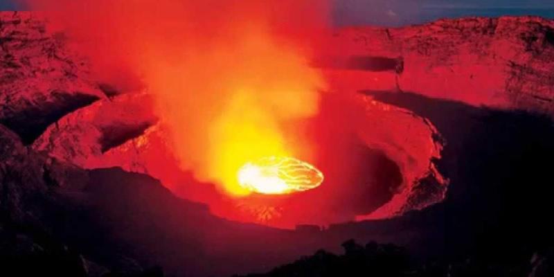 Mountain Nyiragongo Volcano Congo